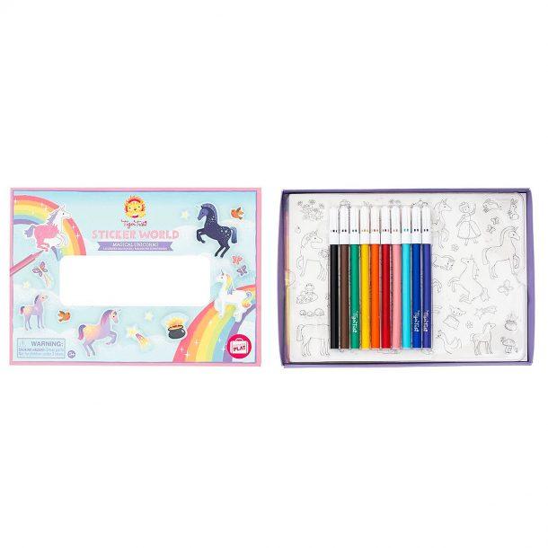 unicorn themed activity sticker set