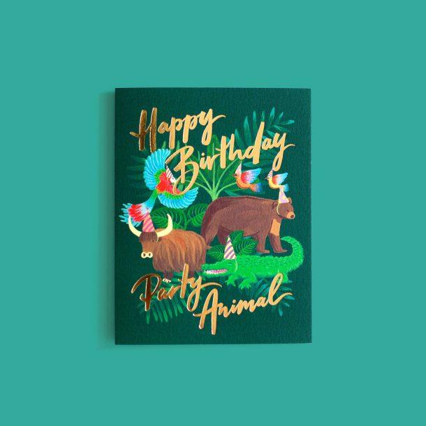 Happy Birthday Party Animal Funny Birthday Card