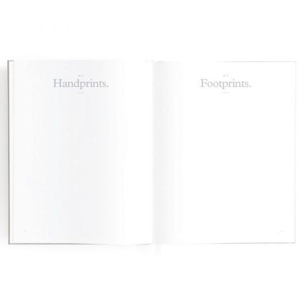 Baby Book Contents my handprints, my footprints