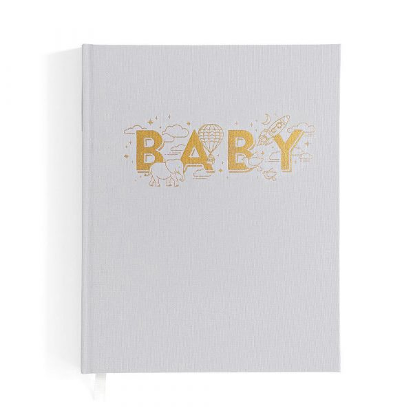Boys Grey Baby Book
