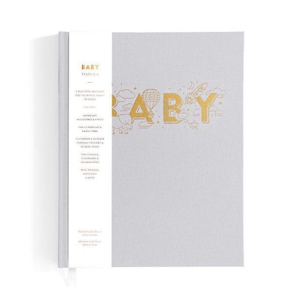 Boys Grey Baby Book