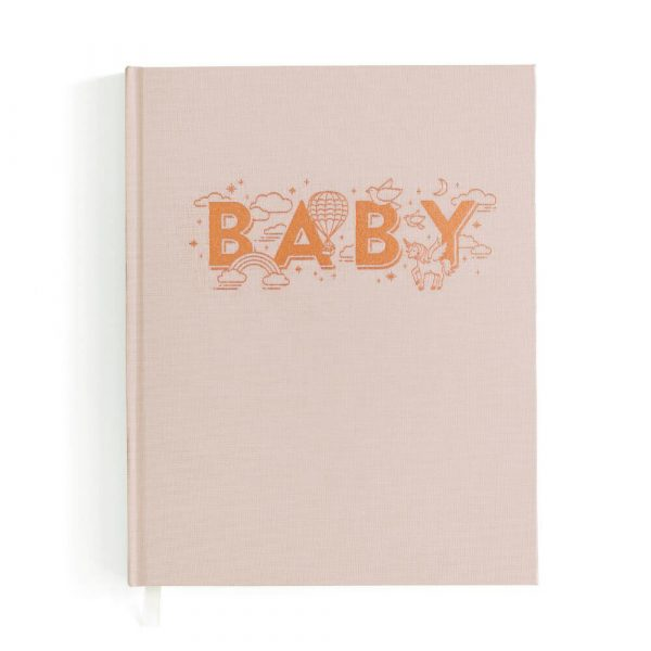 FOX & FALLOW Girls blush Baby Book