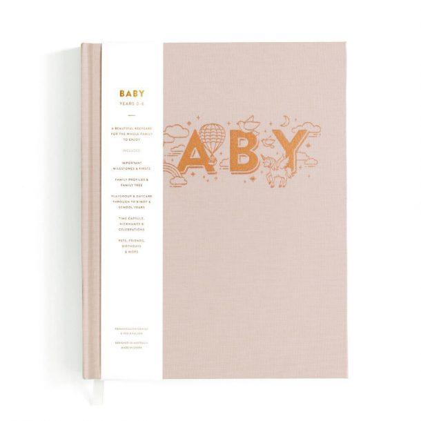 FOX & FALLOW Girls blush Baby Book
