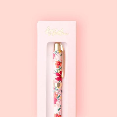 Red and pink flower pen gifts