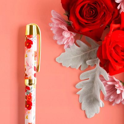 Red and Pink flower pens