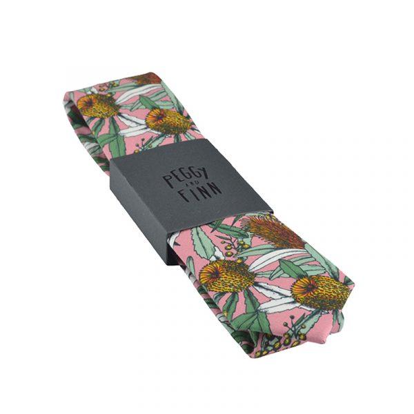 Banksia Pink Cotton Tie