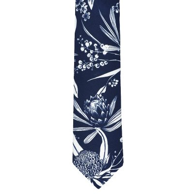 Navy Natives Cotton Tie