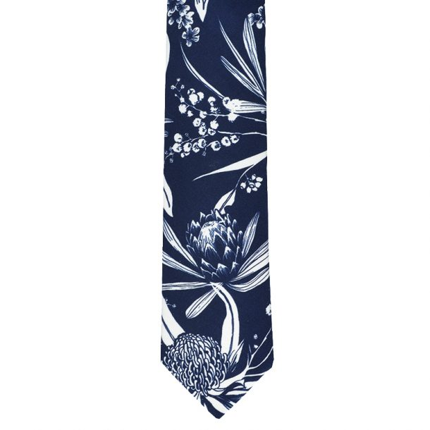 Navy Natives Cotton Tie