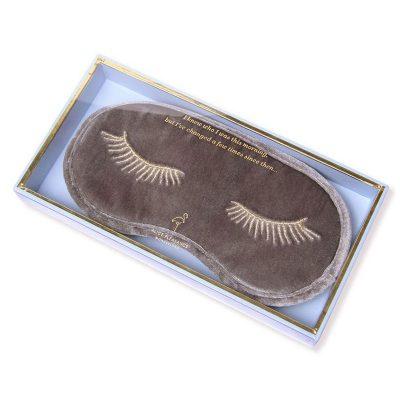Silver Haze Velvet Eye Mask