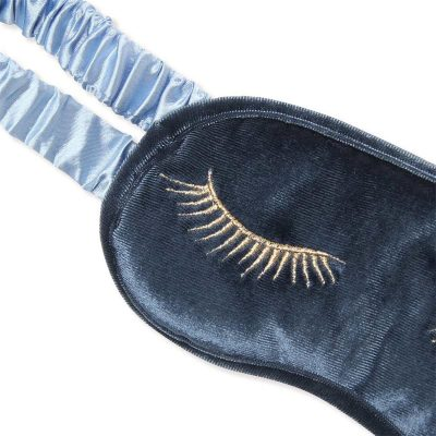close up of Blue Steel Velvet Eye Mask