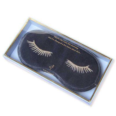 Blue Steel Velvet Eye Mask in gift box