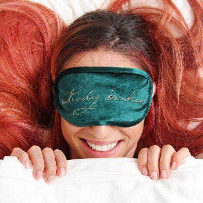 Entirely Bonkers Green Velvet Eye Mask