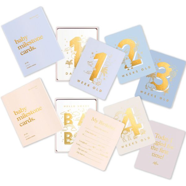 luxurious Gender Neutral Baby Milestone Cards