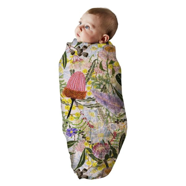 KIPANDCO // Native Pink Bamboo Swaddle