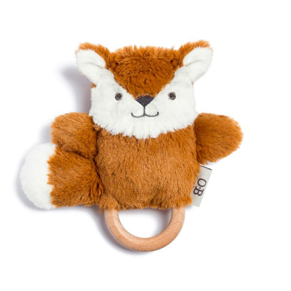 Frankie Fox Natural Wooden Teething Ring