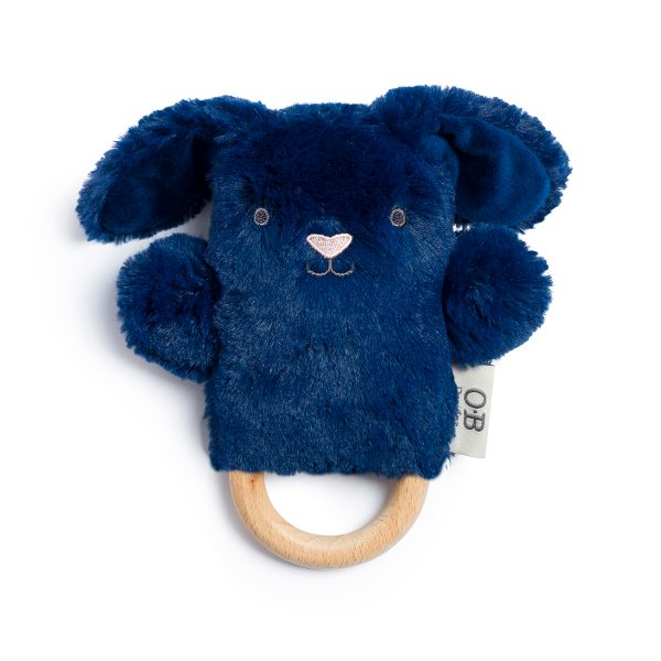 OBDesigns // Bobby Bunny Natural Wooden Teething Ring