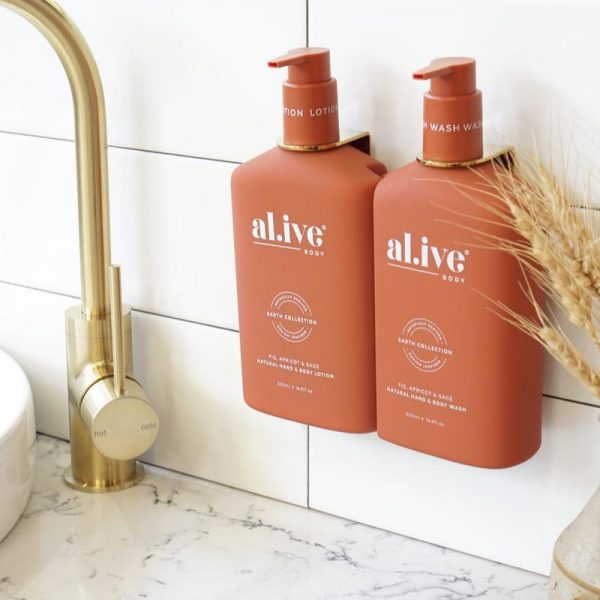 AL.IVE Fig, Apricot and Sage Wash and Lotion Gift Duo with Gold Hanger