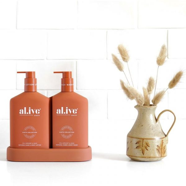 AL.IVE Fig, Apricot and Sage Wash and Lotion Gift Duo