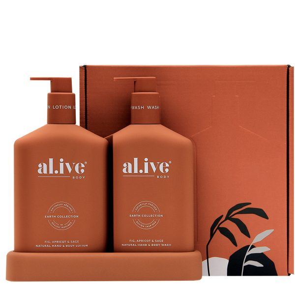AL.IVE Fig, Apricot and Sage Wash and Lotion Gift Duo with box