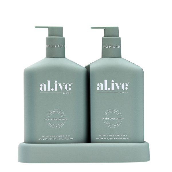 AL.IVE Kaffir Lime and Green Tea Gift Wash and Lotion Duo