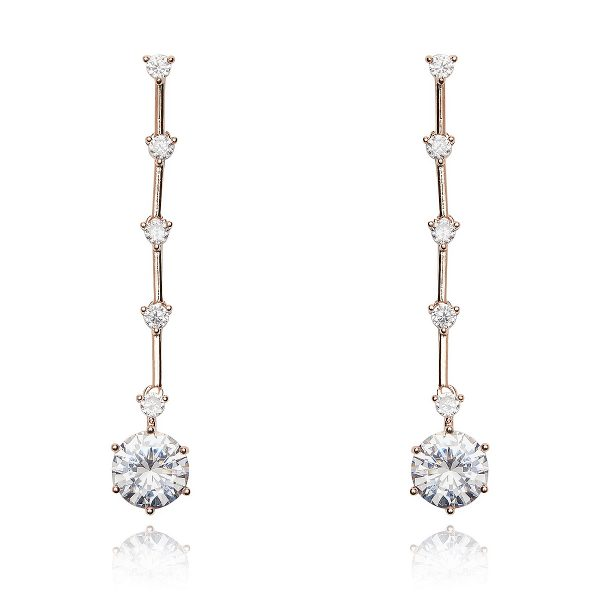 Crystal Elektra Rose Gold Earrings