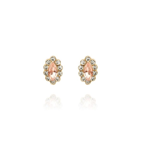 Fleur Dainty Crystal Earrings