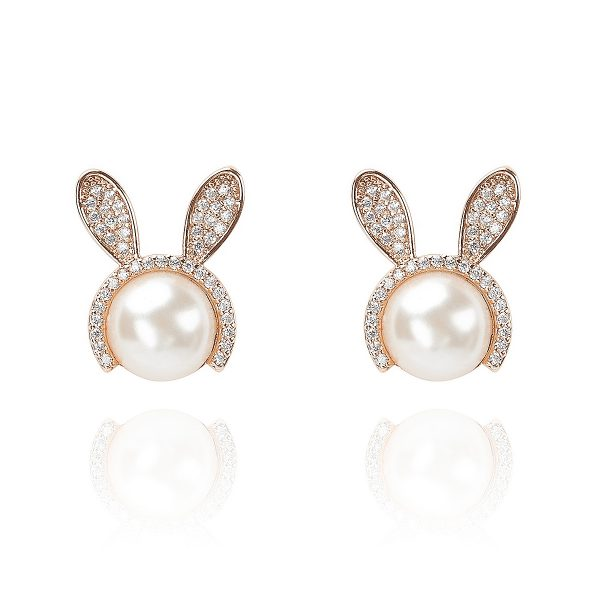 Pearl Bunny Earrings