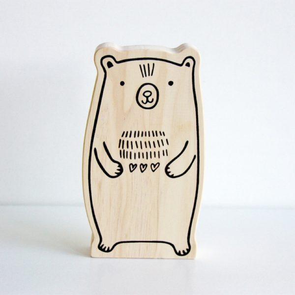Wooden Animal Decor Mates