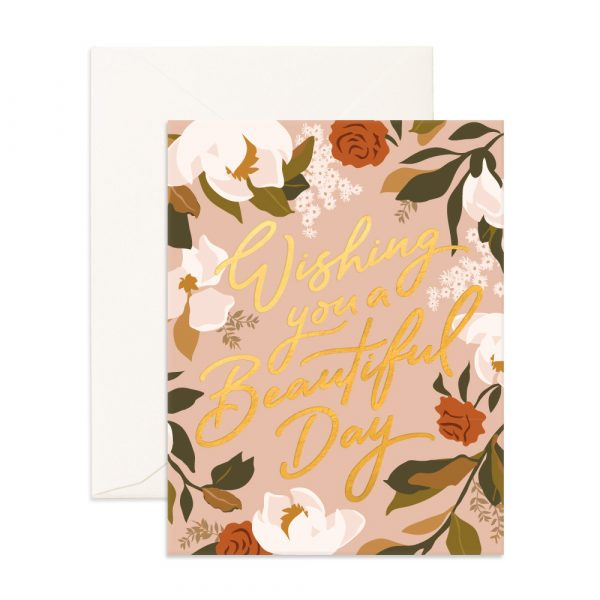 FOX & FALLOW // Beautiful Day Magnolias Greeting Card