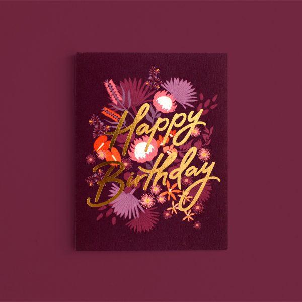 FOX & FALLOW // Birthday Amaranth Greeting Card