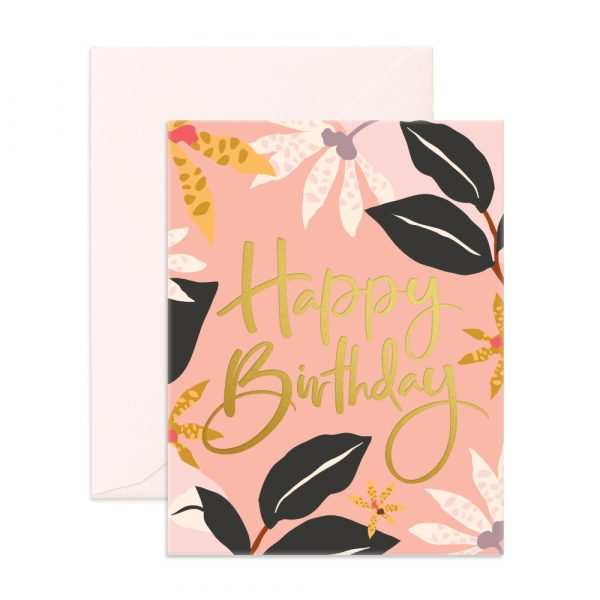 FOX & FALLOW // Birthday Orchids Greeting Card