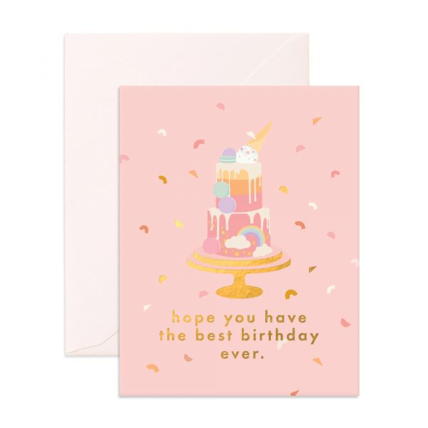 Best Birthday Cake Greeting Card