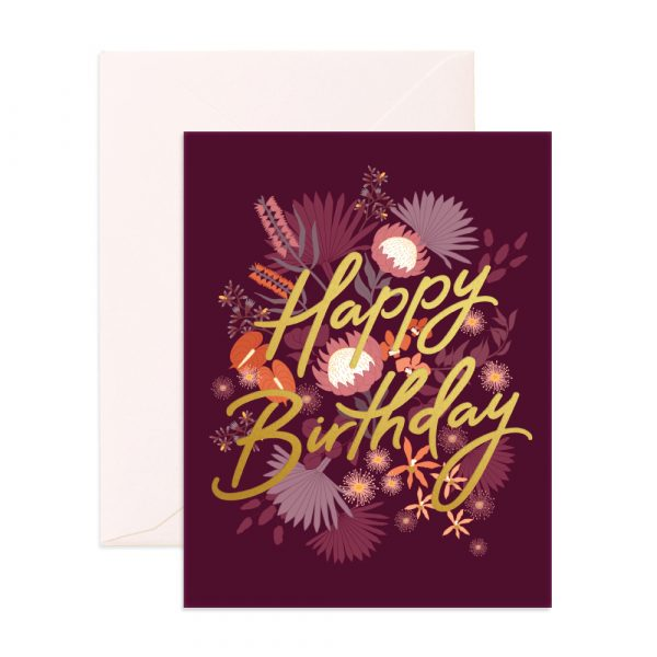 FOX & FALLOW // Birthday Amaranth Greeting Card