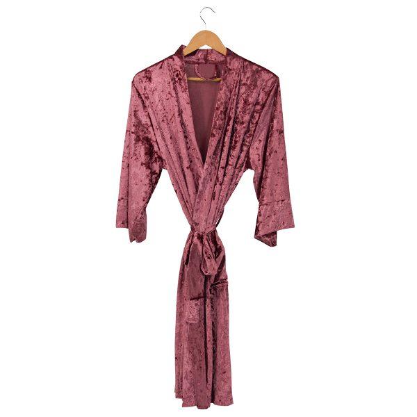 ANNABEL TRENDS Crushed Rose Velvet Robe