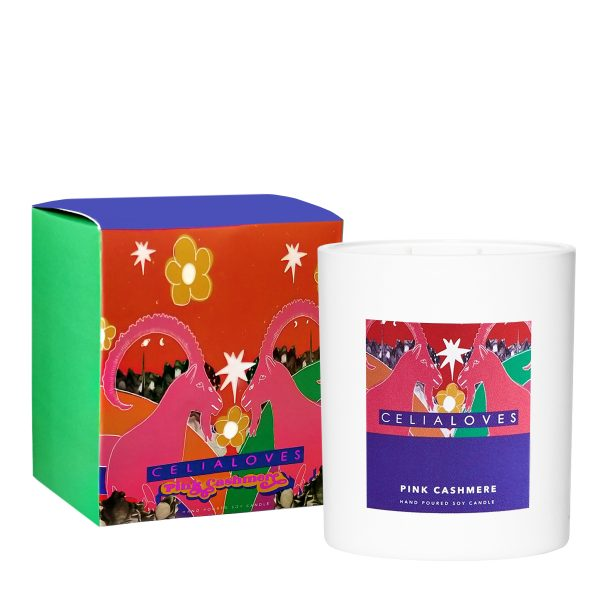 CELIA LOVES Pink Cashmere Candle