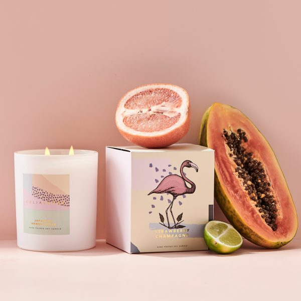 CELIA LOVES // Strawberry Champagne Candle