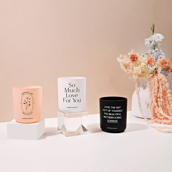 Damselfly Quote Candles