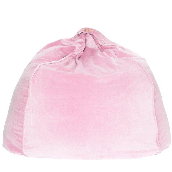 KIPANDCO Pink Velvet Beanbag Cover