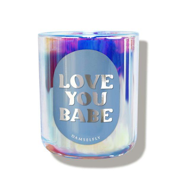 DAMSELFLY // Love You Babe Rainbow Damselfly Candle