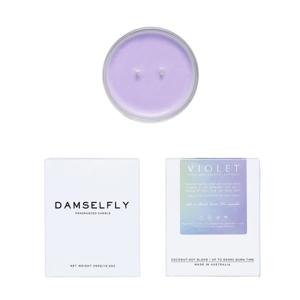 Stellar Holographic Candle Violet Scent